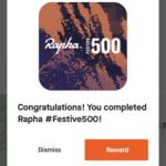 2020年末の「Rapha Festive500」達成