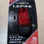 ブレーキをかけると点滅で減速を知らせる「LEZYNE KTV PRO ALERT DRIVE REAR」を購入&レビュー
