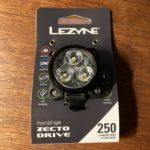 ロードバイクのフロントライト用に「LEZYNE ZECTO DRIVE 250」を購入